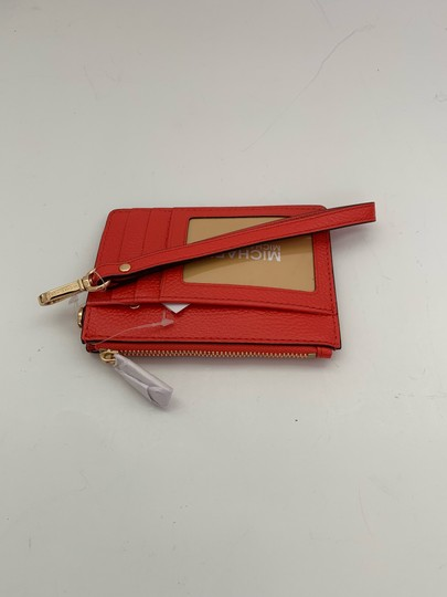 Michael Kors Michael Kors Top Zip Money Pieces Small Coin Purse Wristlet Sea Coral Image 1