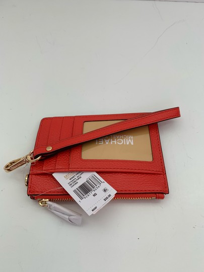 Michael Kors Michael Kors Top Zip Money Pieces Small Coin Purse Wristlet Sea Coral Image 2
