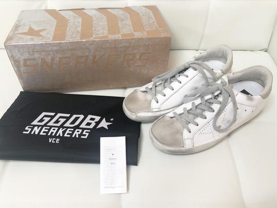 Golden Goose Deluxe Brand Ggdb Superstar Skate Sneaker White and Off-White Athletic Image 3