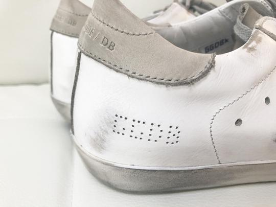 Golden Goose Deluxe Brand Ggdb Superstar Skate Sneaker White and Off-White Athletic Image 4