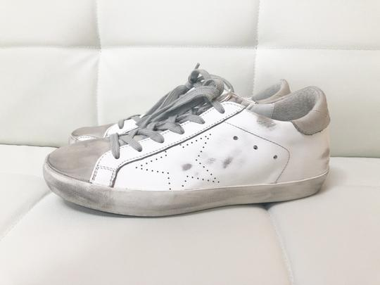 Golden Goose Deluxe Brand Ggdb Superstar Skate Sneaker White and Off-White Athletic Image 6