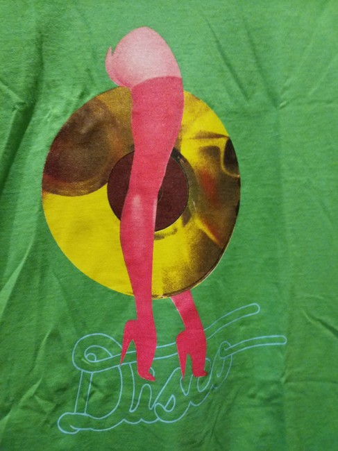 Disco Tuesdays T Shirt Green pink multiple Image 2