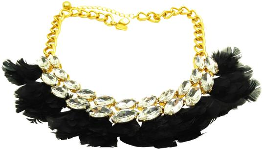 Preload https://img-static.tradesy.com/item/25956756/kate-spade-black-gold-plated-in-full-feather-statement-necklace-0-4-540-540.jpg