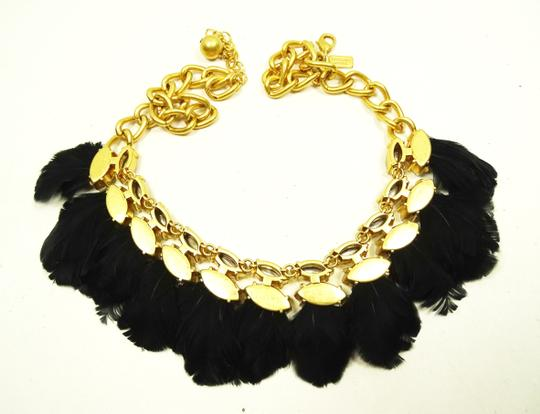 Kate Spade KATE SPADE Gold Plated In Full Feather Statement Necklace Image 5