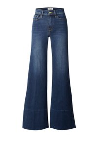 FRAME Palazzo Pants High Rise Denim Trouser/Wide Leg Jeans-Medium Wash