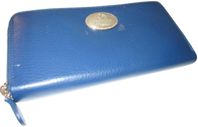 Item - Blue Continental In Leather Wallet