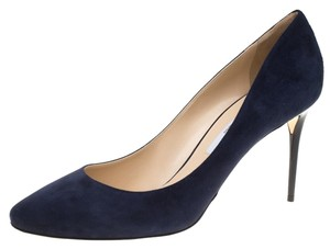 Jimmy Choo Suede Leather Blue Pumps