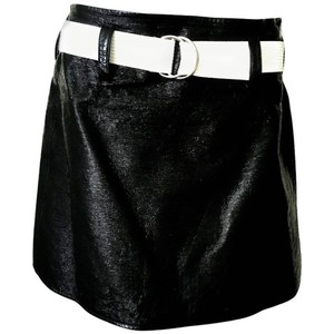 Courreges Patent Leather Belt Mini Skirt Black