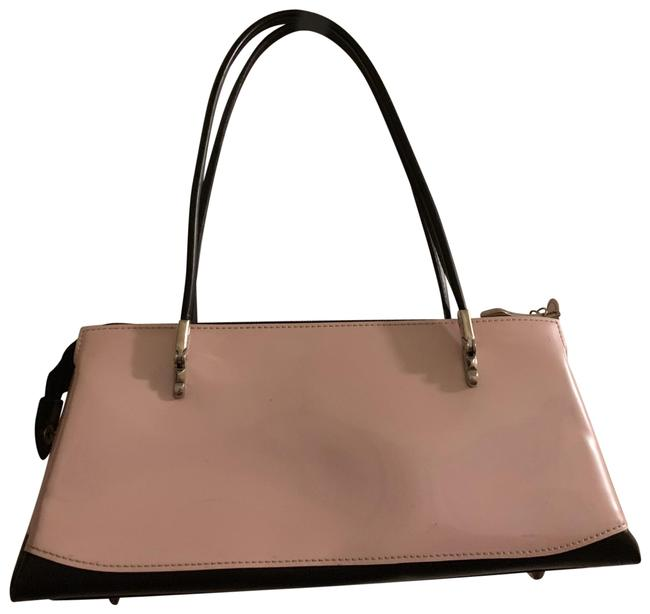 Item - Pink with Black Accent Patent Leather Shoulder Bag