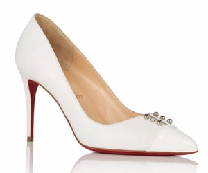 Christian Louboutin Pvc Bridal White Pumps