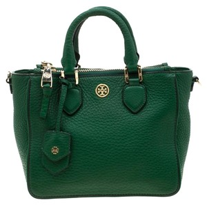 Tory Burch Leather Tote in Green