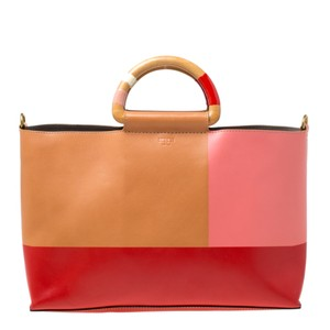 Tory Burch Leather Bamboo Tote in Multicolor
