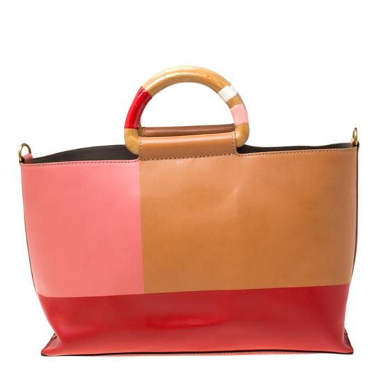 Tory Burch Leather Bamboo Tote in Multicolor Image 1