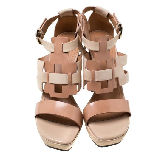 Tod's Leather Strappy Open Toe Beige Sandals Image 2