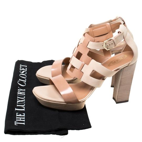 Tod's Leather Strappy Open Toe Beige Sandals Image 7