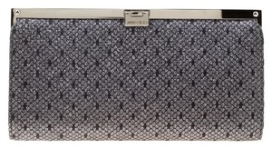Jimmy Choo Lace Glitter Metallic Clutch