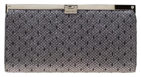 Jimmy Choo Lace Glitter Metallic Clutch Image 0