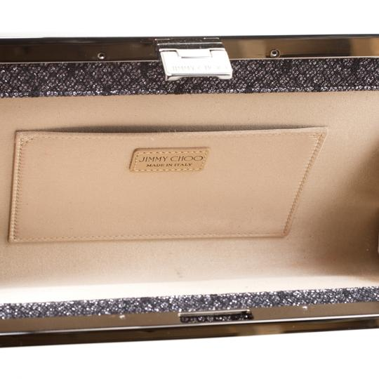 Jimmy Choo Lace Glitter Metallic Clutch Image 4