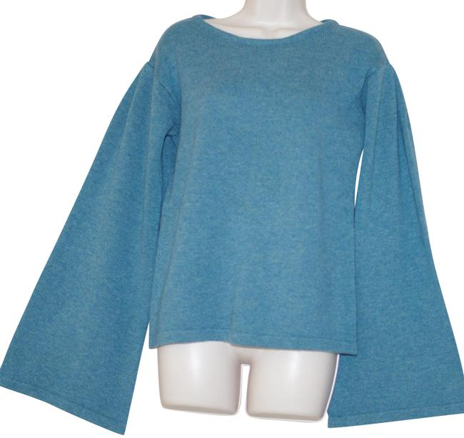 Preload https://img-static.tradesy.com/item/25957479/cullen-cashmere-wide-sleeve-blue-sweater-0-1-650-650.jpg