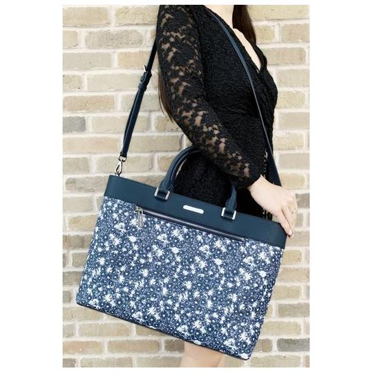 Michael Kors Womens Tote in Navy Floral Image 1