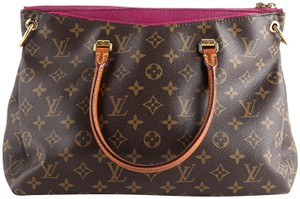 Louis Vuitton Leather Violet Tote in Brown