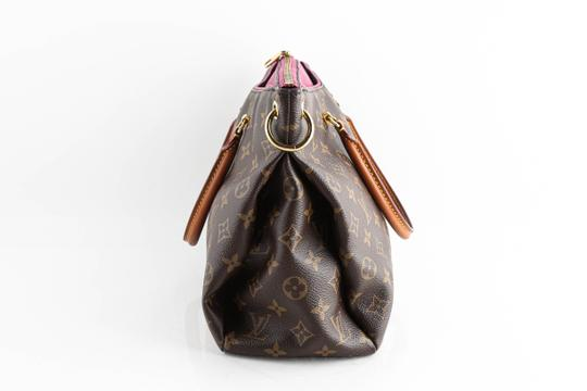 Louis Vuitton Leather Violet Tote in Brown Image 2