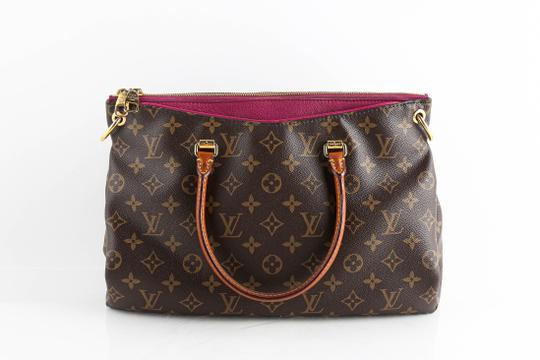 Louis Vuitton Leather Violet Tote in Brown Image 3