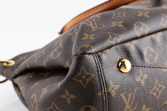 Louis Vuitton Leather Violet Tote in Brown Image 5