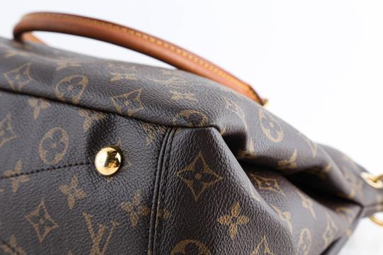 Louis Vuitton Leather Violet Tote in Brown Image 6
