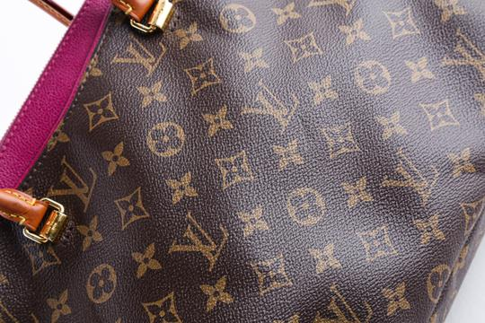 Louis Vuitton Leather Violet Tote in Brown Image 9