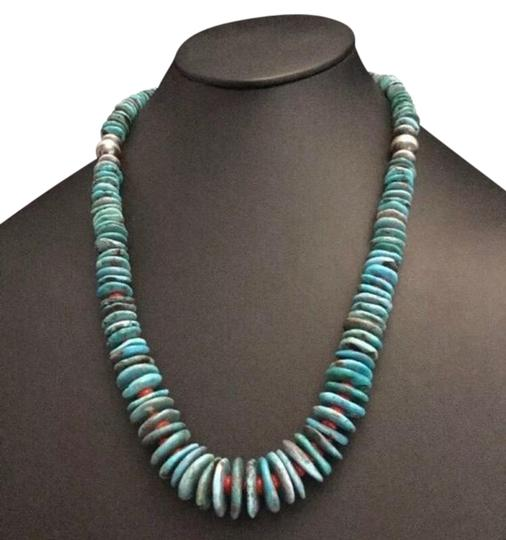 Preload https://img-static.tradesy.com/item/25957526/turquoise-coral-sterling-silver-necklace-0-1-540-540.jpg