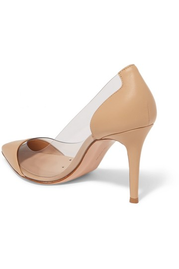 Gianvito Rossi Plexi 85mm Pvc Beige Leather Pumps Image 1