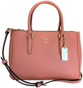 Coach Satchel in Light Coral