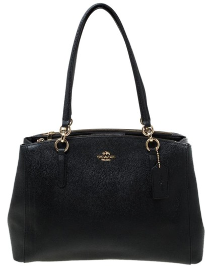 Preload https://img-static.tradesy.com/item/25957549/coach-carryall-christie-black-leather-satchel-0-1-540-540.jpg