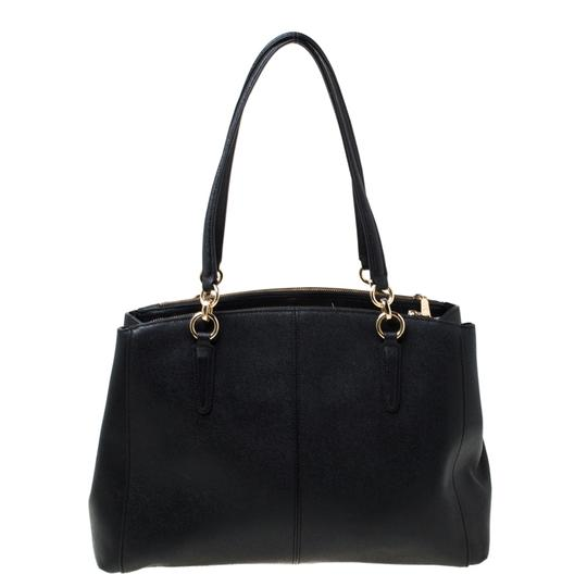 Coach Leather Satchel in Black Image 1