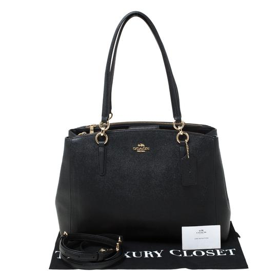 Coach Leather Satchel in Black Image 10