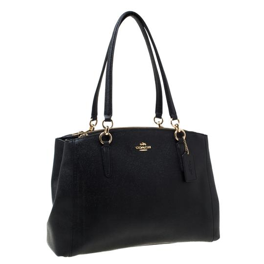Coach Leather Satchel in Black Image 3