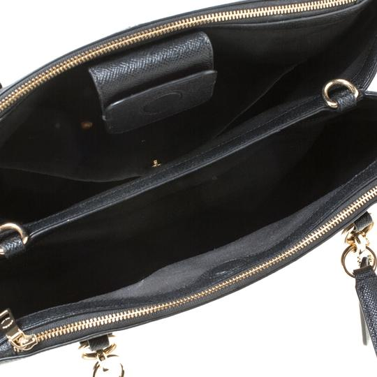 Coach Leather Satchel in Black Image 5