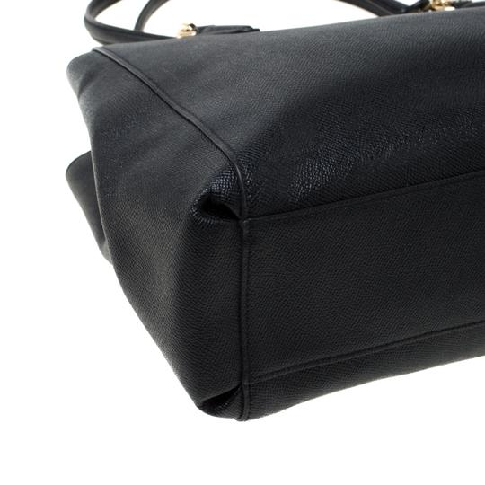 Coach Leather Satchel in Black Image 7
