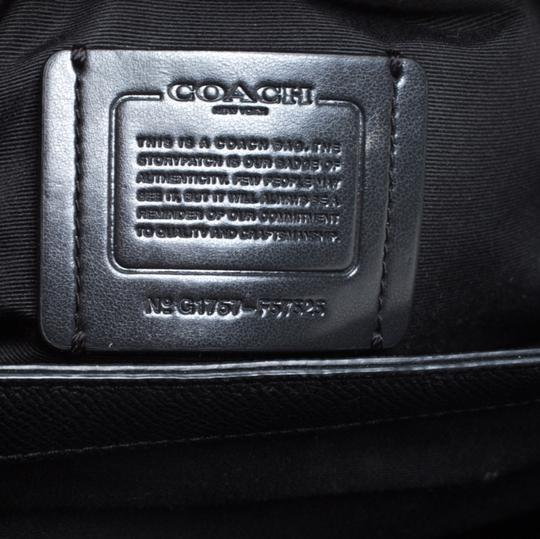 Coach Leather Satchel in Black Image 8