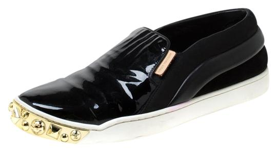 Preload https://img-static.tradesy.com/item/25957583/louis-vuitton-black-patent-leather-and-suede-studded-slip-on-sneakers-flats-size-eu-365-approx-us-65-0-1-540-540.jpg