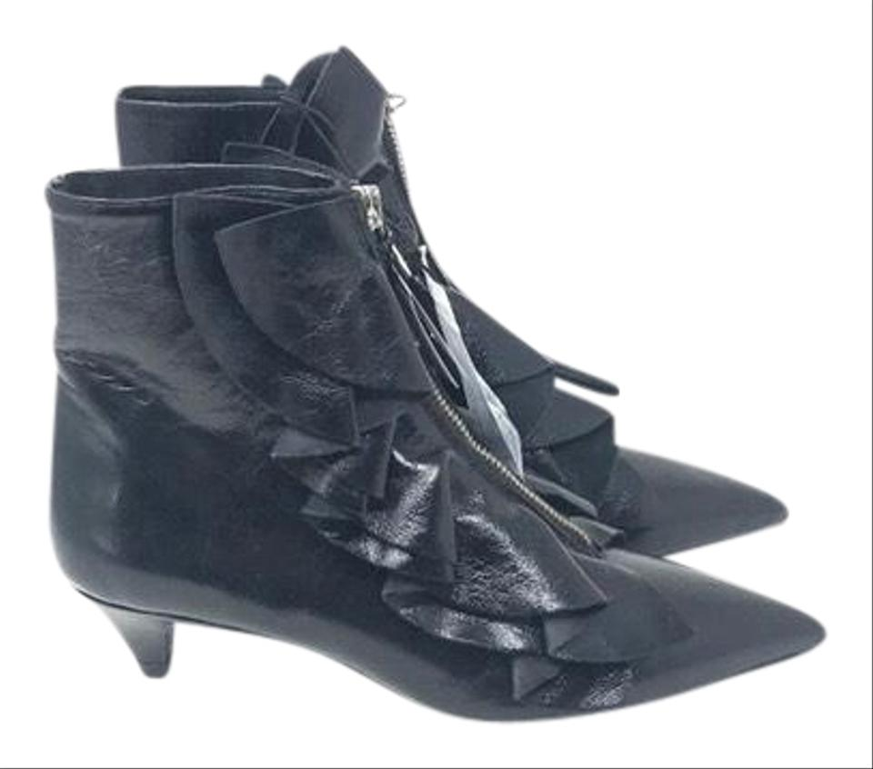 promo code purchase cheap best sneakers Zara Ruffle Patent Leather Boots/Booties Size US 6 Regular (M, B ...