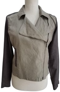 Eileen Fisher Linen Motorcycle Jacket