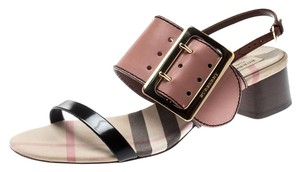 Burberry Leather Slingback Multicolor Sandals