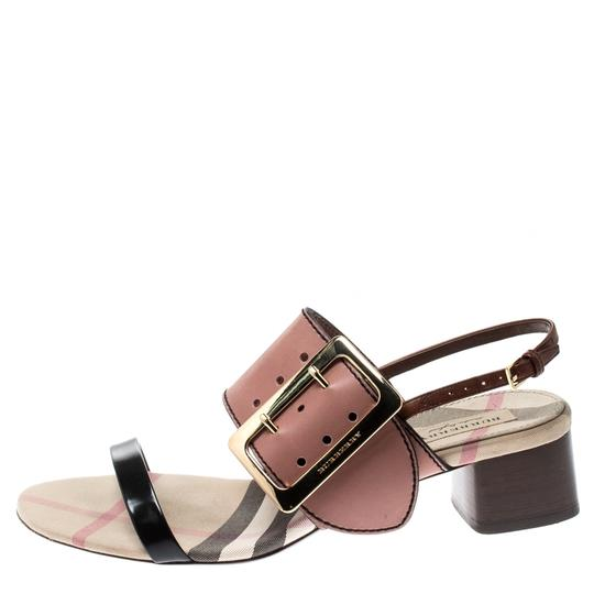 Burberry Leather Slingback Multicolor Sandals Image 1