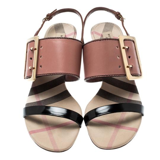Burberry Leather Slingback Multicolor Sandals Image 2