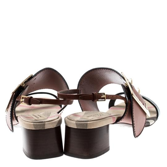 Burberry Leather Slingback Multicolor Sandals Image 3