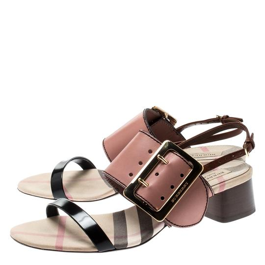 Burberry Leather Slingback Multicolor Sandals Image 4