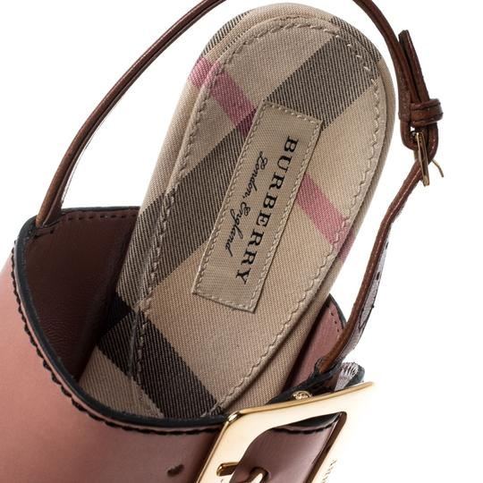 Burberry Leather Slingback Multicolor Sandals Image 5