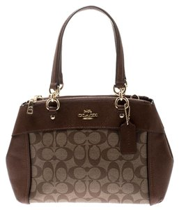 Coach Signature Canvas Leather Satchel in Brown